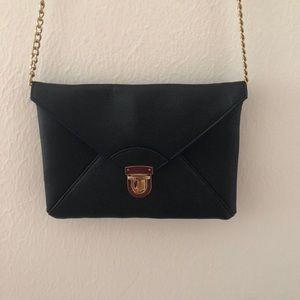 Forever 21 Black and Gold Crossbody Bag